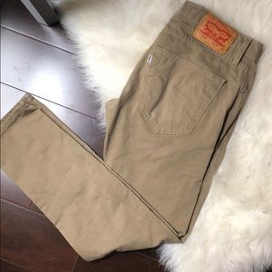 Levi's 512 khaki denim pants
